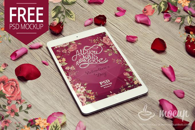Free iPad Mini Mockup Valentine (Custom)
