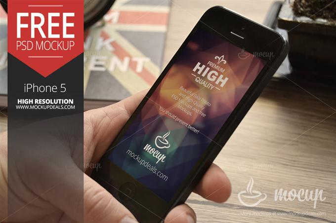Free iPhone 5 Mockup Nottingham (Custom)