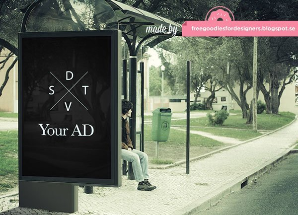 Freebie  Free Outdoor Billboard Ad Mockup