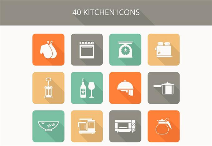 Freebie Kitchen Icon Set (Custom)