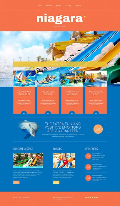 Fun for Children and Adults Responsive WordPress Site