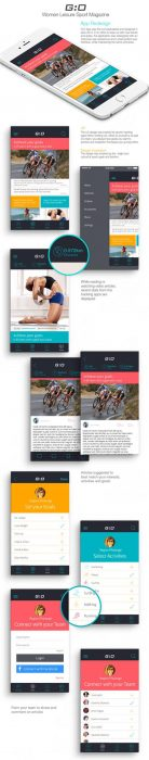 G O Women Leisure Sport Magazine Redesign (Custom)