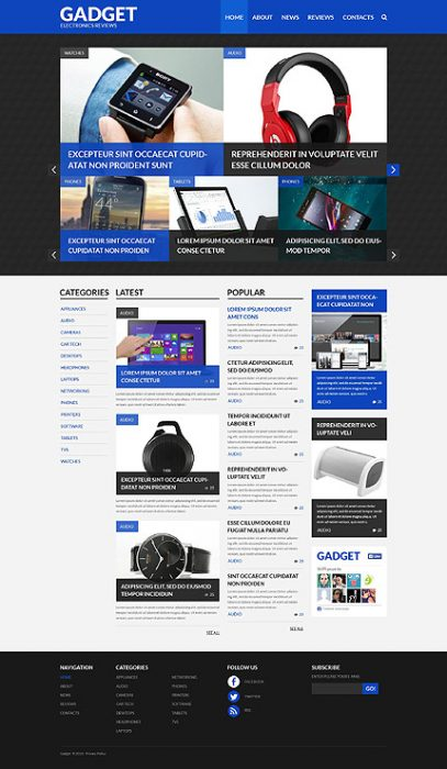 Gadgets that Change Your Life WordPress Site