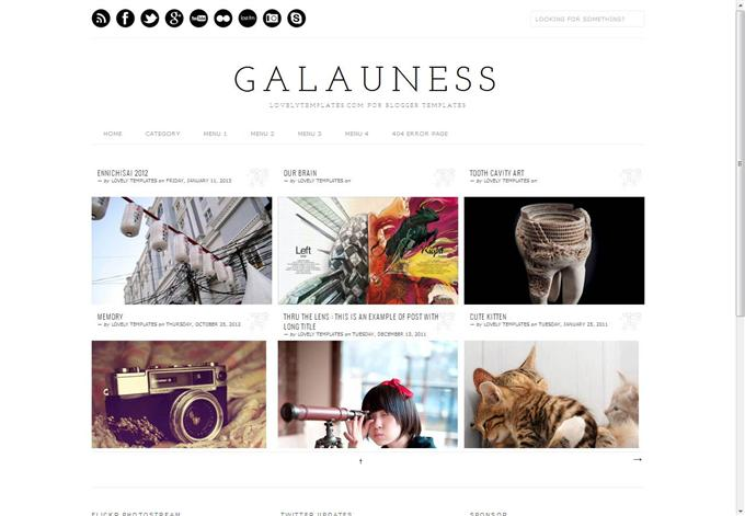 Galauness Photography  Blogger Template (Custom)