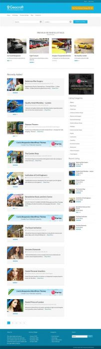 GeoCraft - City Business Directory WordPress Theme (Custom)