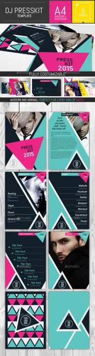 Geometric Dj and Musician Presskit Template (Custom)