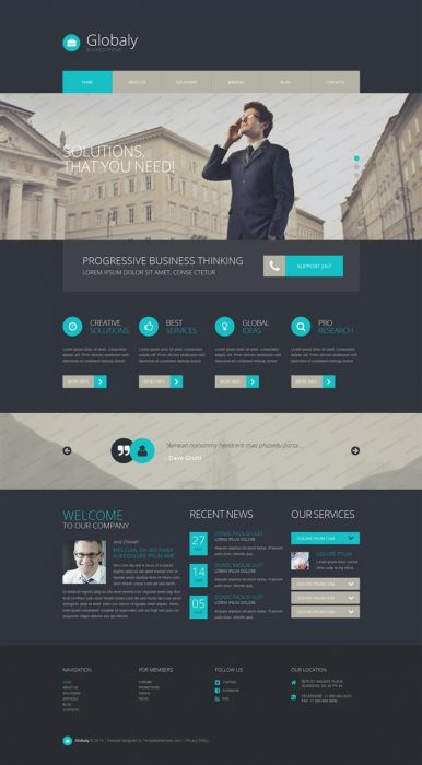 Globaly Free WordPress BusinessTheme (Custom)