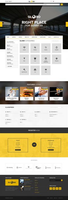 Globo - Directory Listings WordPress Theme (Custom)