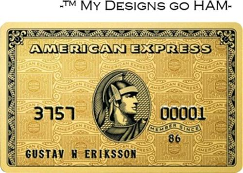 Gold Credit Card (Custom)