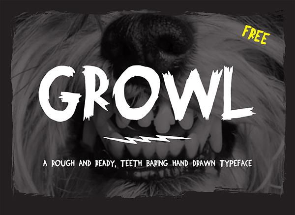Growl Free Font (Custom)