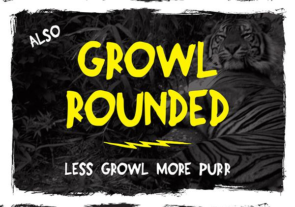 Growl Rounded Free Font (Custom)
