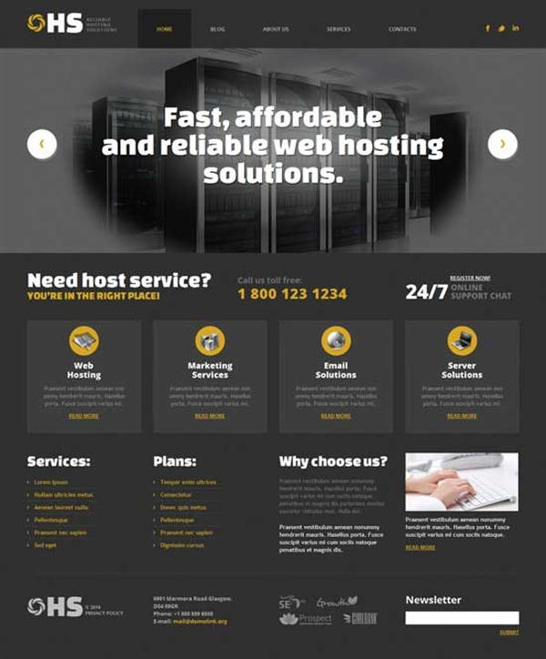 HS - Hosting WordPress Theme (Custom)