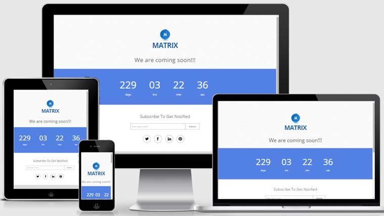 HTML5 Responsive Coming Soon Page