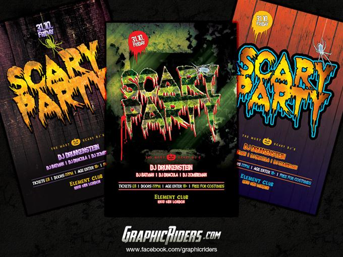 Halloween party flyer templates (Custom)