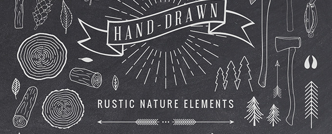 Hand-Drawn Rustic Elements