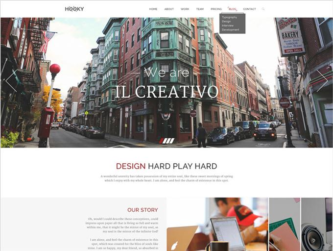 Hooky – One Page Creative PSD Theme (Custom)