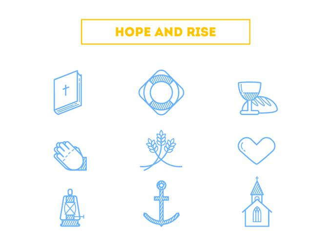 "Hope and Rise"" Icons by Alexey Radzhabov (Custom)"