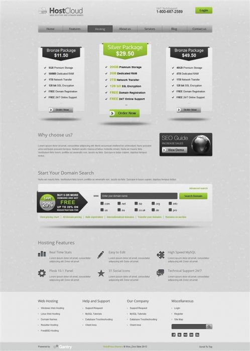 HostCloud - Premium WordPress Theme (Custom)
