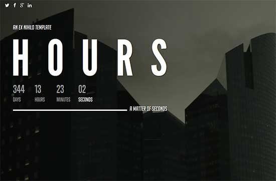 Hours Responsive Coming Soon Page