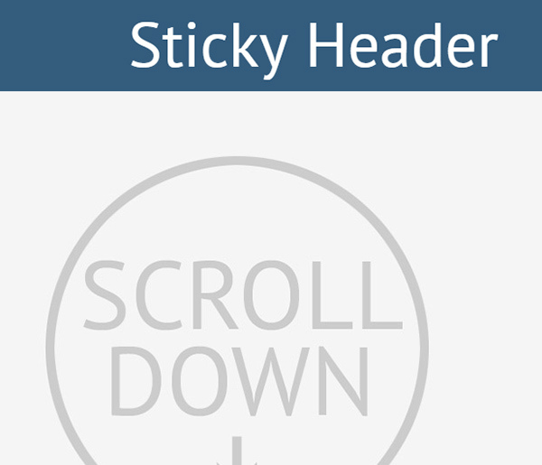 How To Create An Animated Sticky Header With CSS3 And Jquery