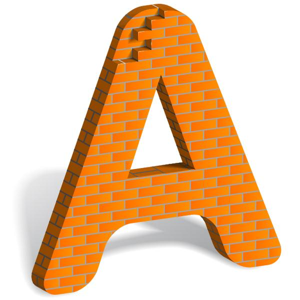 How to Build Letter Art From Bricks In Illustrator (Custom)