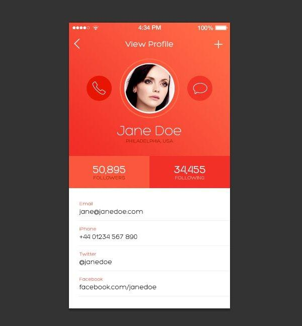 How to Design an iOS inspired iPhone App Screen (Custom)