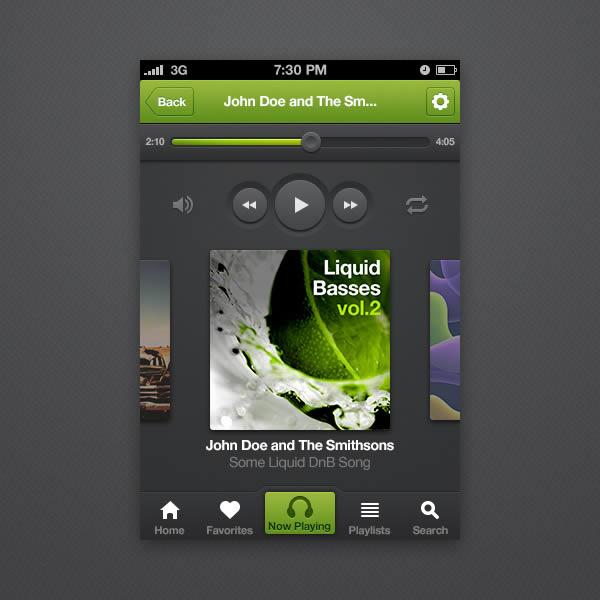 How to Design an iPhone Music Player App Interface With Photoshop CS6 (Custom)