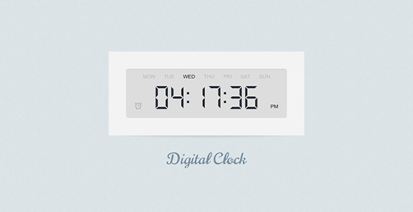 How to Make a Digital Clock with jQuery and CSS3