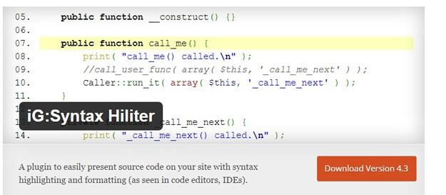 IG  Syntax Hiliter (Custom)