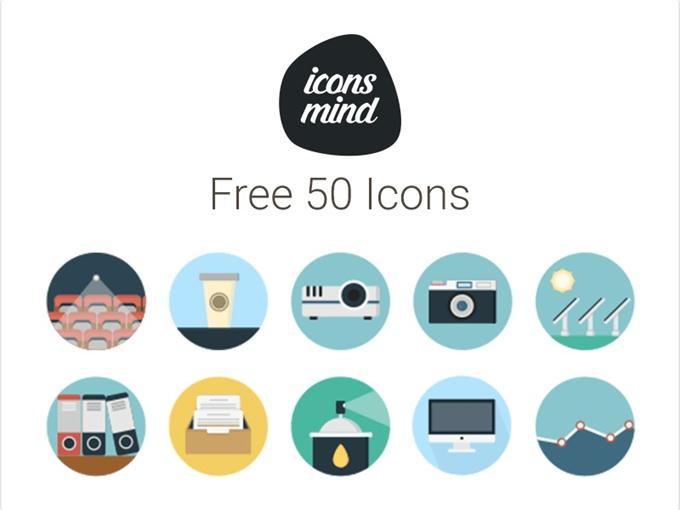Iconsmind 50 Free Icons (Custom)
