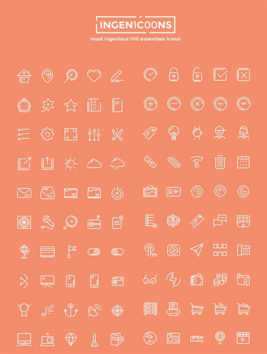 Ingenicons – Free Vector Icons Set (Custom)