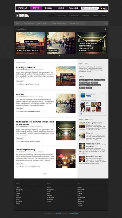 Insomnia Blogger Template (Custom)