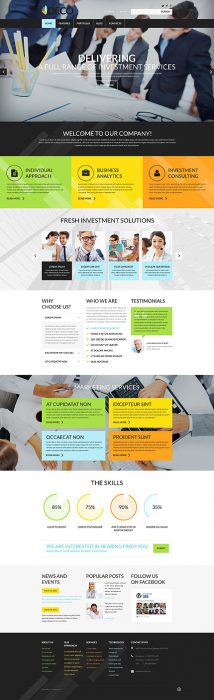 Investments that Pay Back WordPress Template
