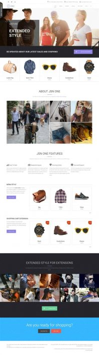 JSN One For E-Commerce website (Custom)