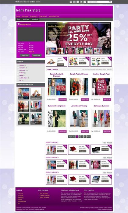 Johny Palelu Peang Shopping Blogger Template (Custom)