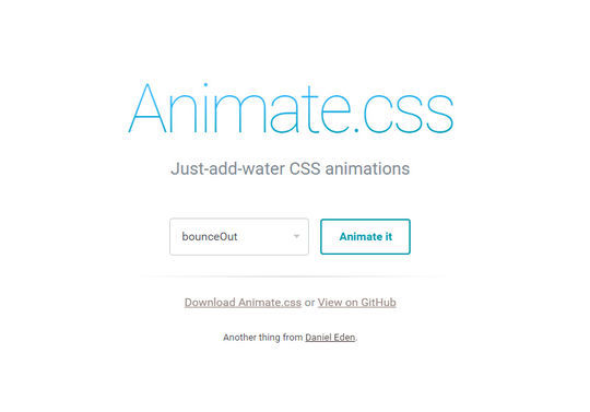 Just-add-water CSS animations