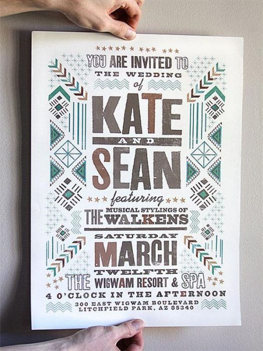 Kate & Sean s wedding poster