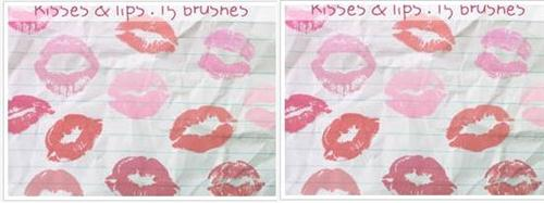 Kisses & Lips Brushes (Custom)