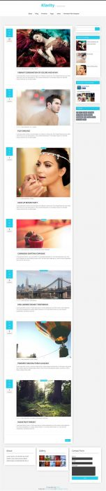 Klarity Responsive Personal Blog Blogger Template (Custom)