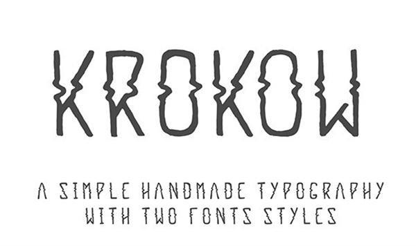 Krokow – Free Font (Custom)