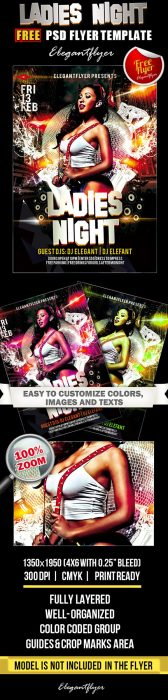 Ladies Night – Club and Party Free Flyer PSD Template (Custom)