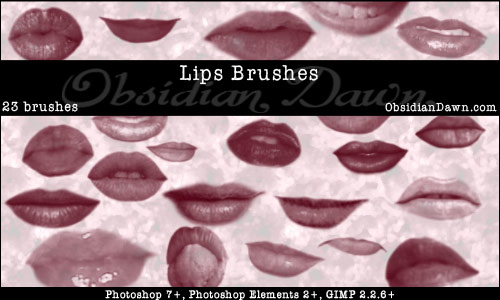Lips - Mouth Photoshop Brushes