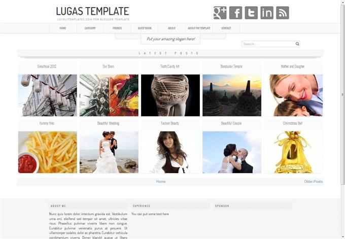 Lugas Photo Blogger Template (Custom)