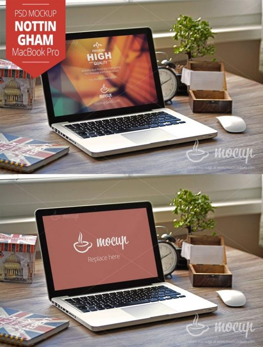 MacBook Mockup Nottingham (Custom)