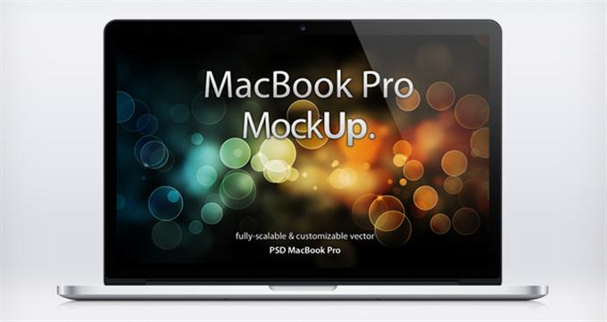 MacBook Pro Retina Psd Mockup (Custom)