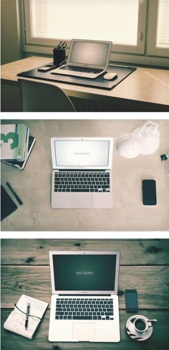 Macbook Air hipster Mockups (Custom)