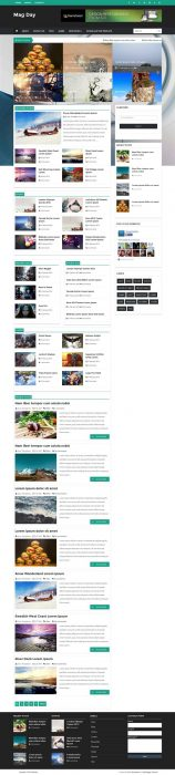 Mag day Responsive Blogger Template (Custom)