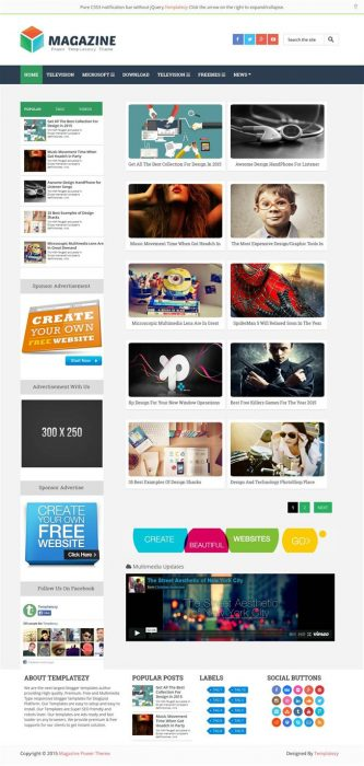Magazine Responsive Blogger Template (Custom)