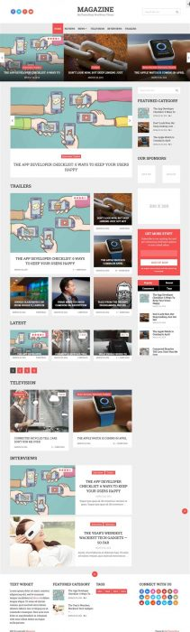 Magazine WordPress theme (Custom)