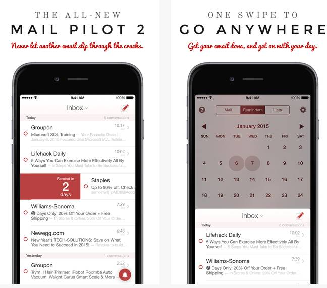 Mail Pilot 2  Email Inbox Simplified